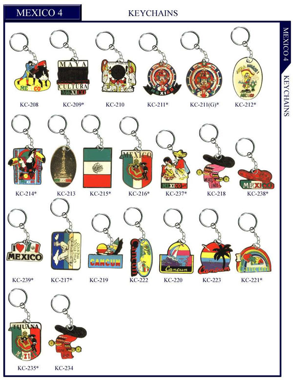 Keyring & Stock Countries Lapel Pins.